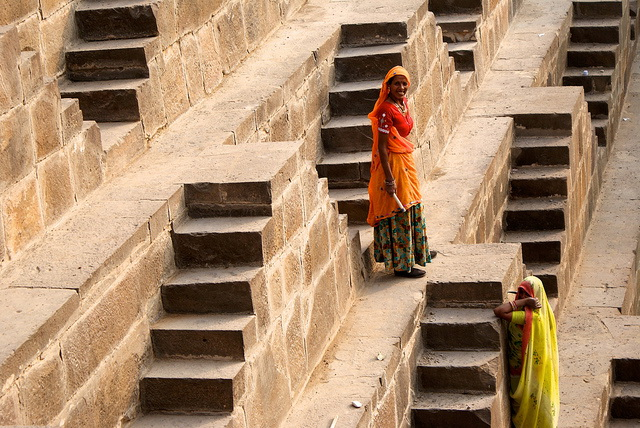 Chand Baori stairs detail